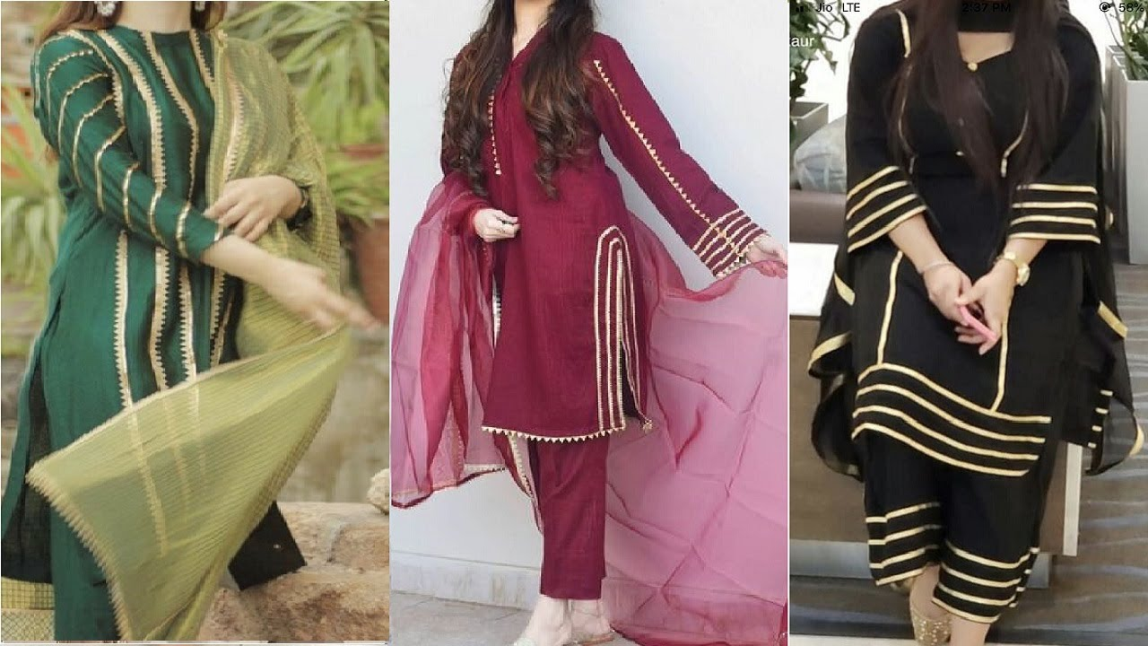 Modern and Simple Simple Kameez Design With Laces