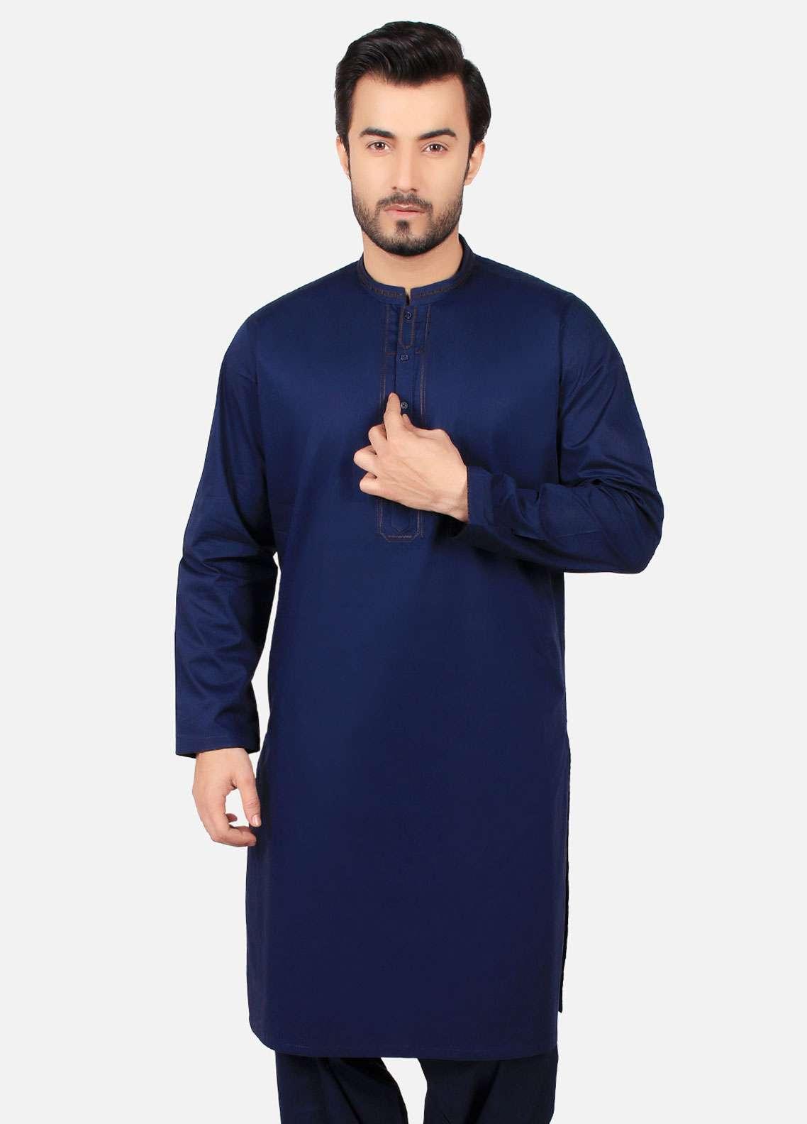 Modern blue shalwar kameez designs