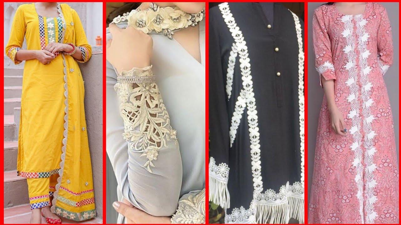 Modern kameez design with laces