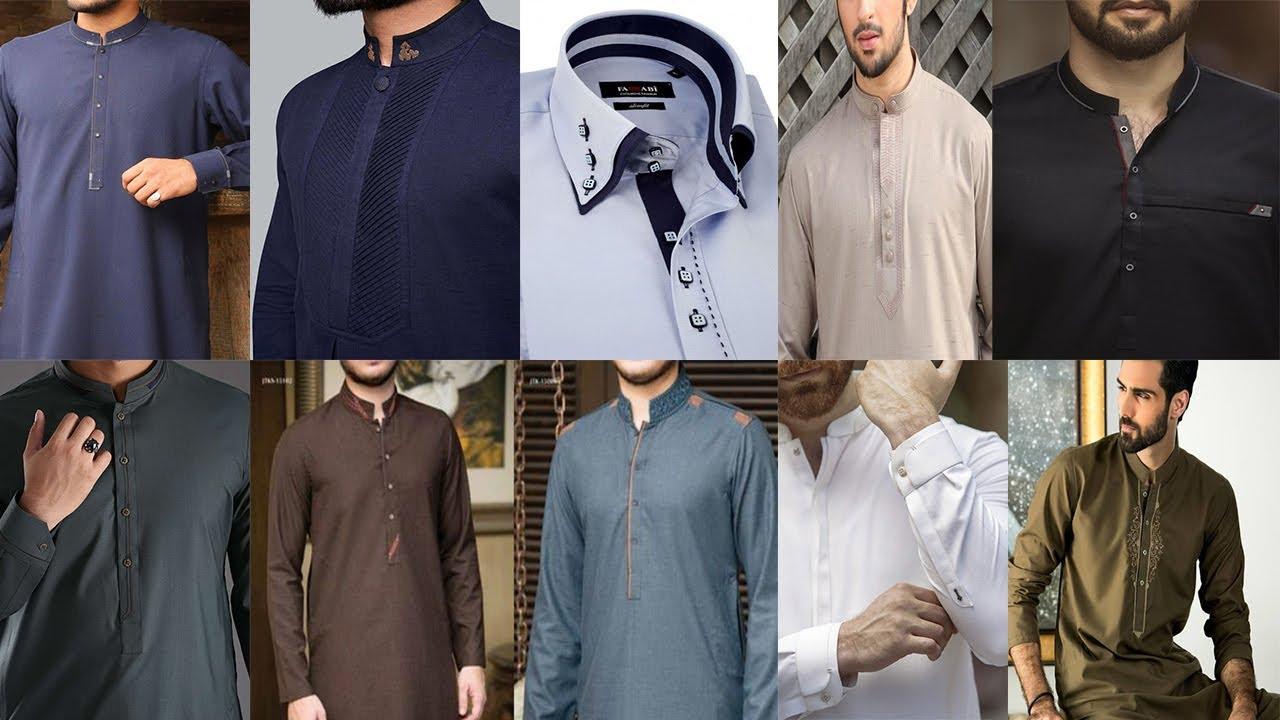 New Men Neck Design Collar Kameez
