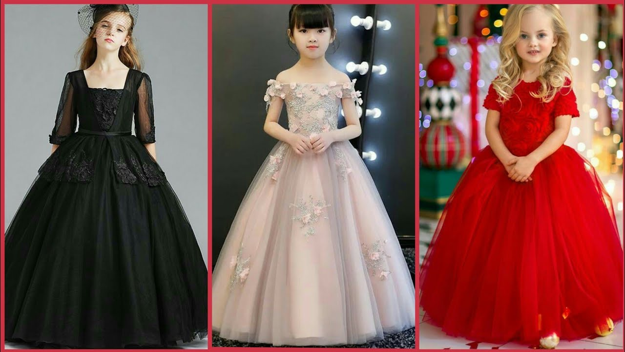 Princess Types Silk Stylish Gown Design For Little Girls