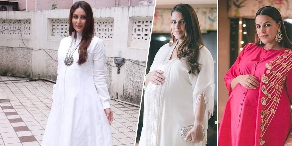 Salwar Kameez Designs For Pregnant Lady