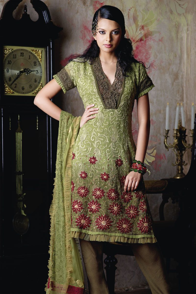 Salwar Kameez Half Sleeve Designs