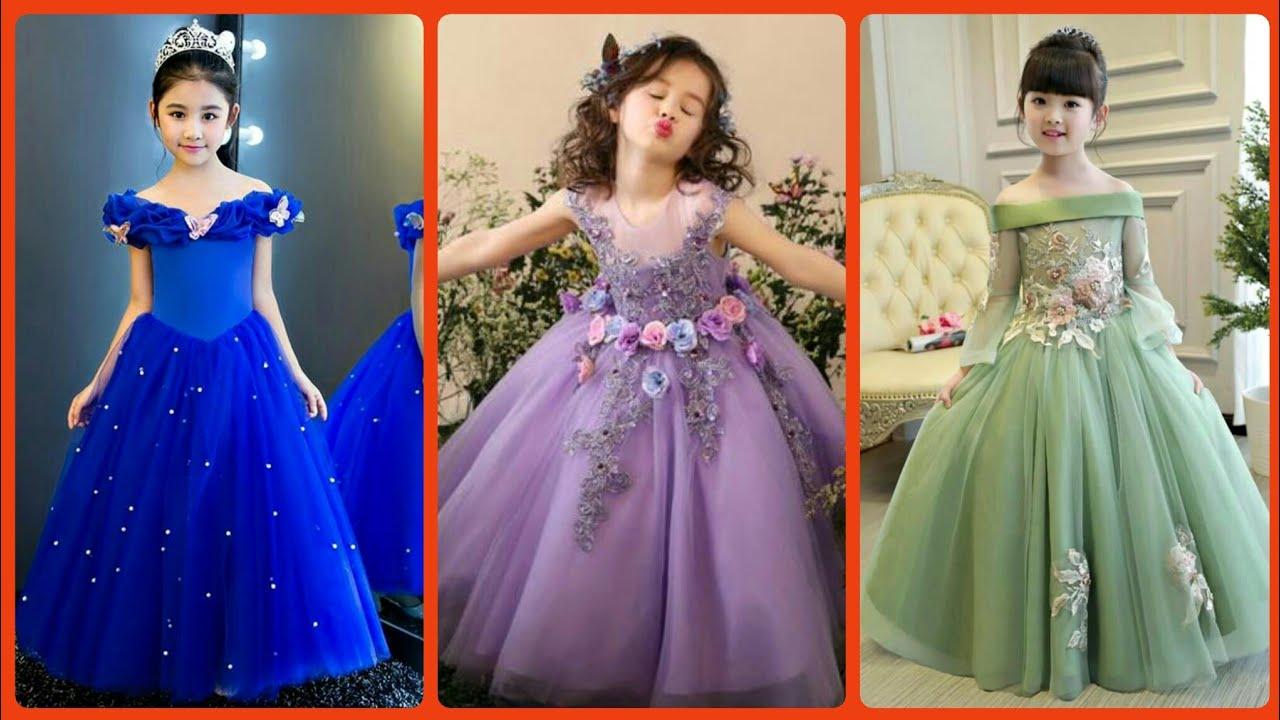 Silk Stylish Gown Design Fir Little Girls