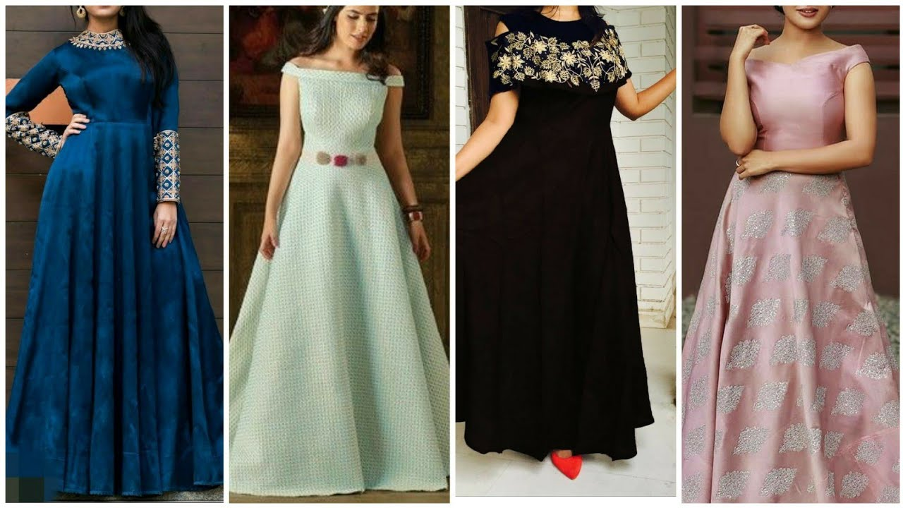 Simple Gown Design Party Wear