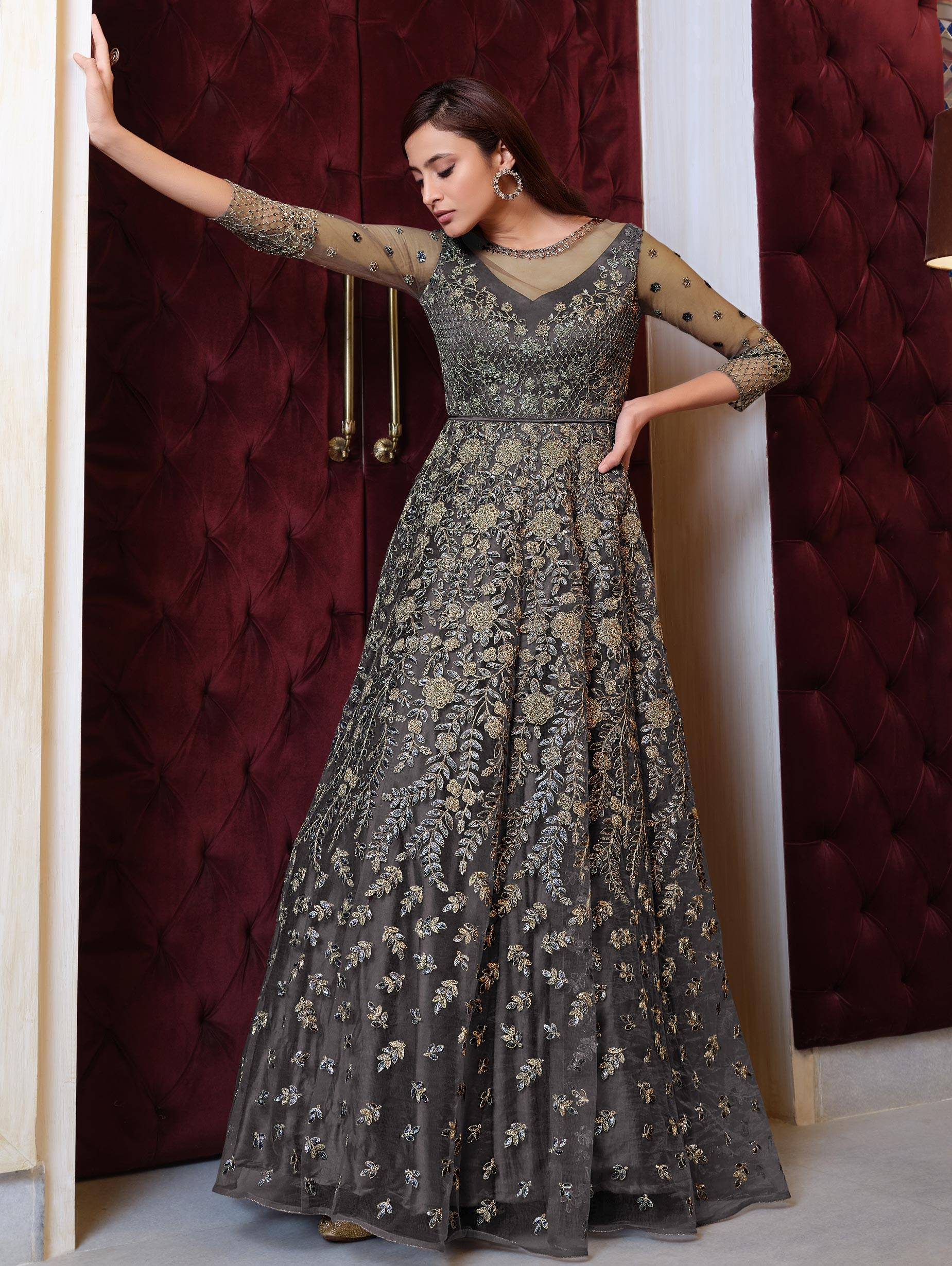 Simple New Gown Design 2021