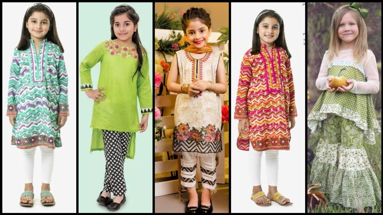 Simple and Latest Kameez Designs For Baby Girl