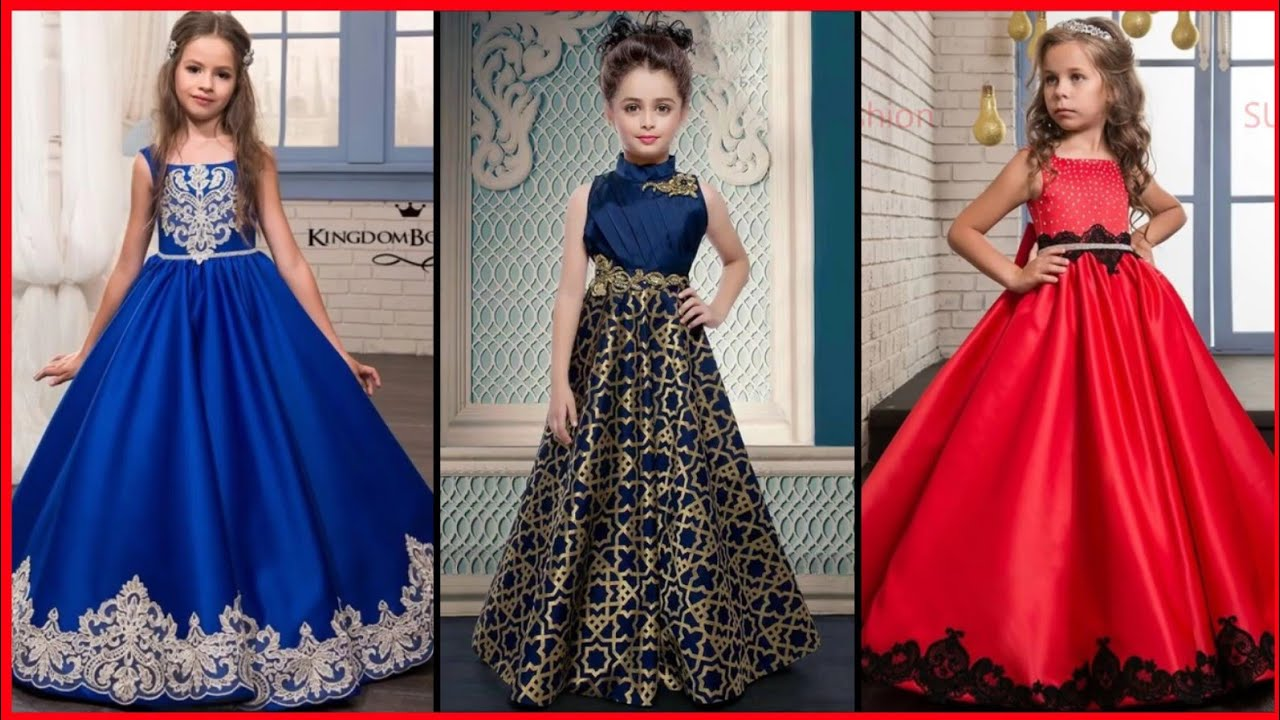 Stylish Gown Design For Kids