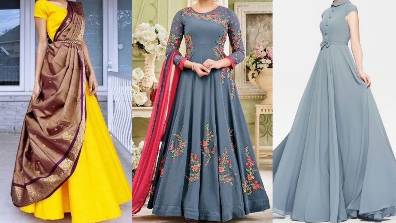 Stylish Gown Design Party Wear