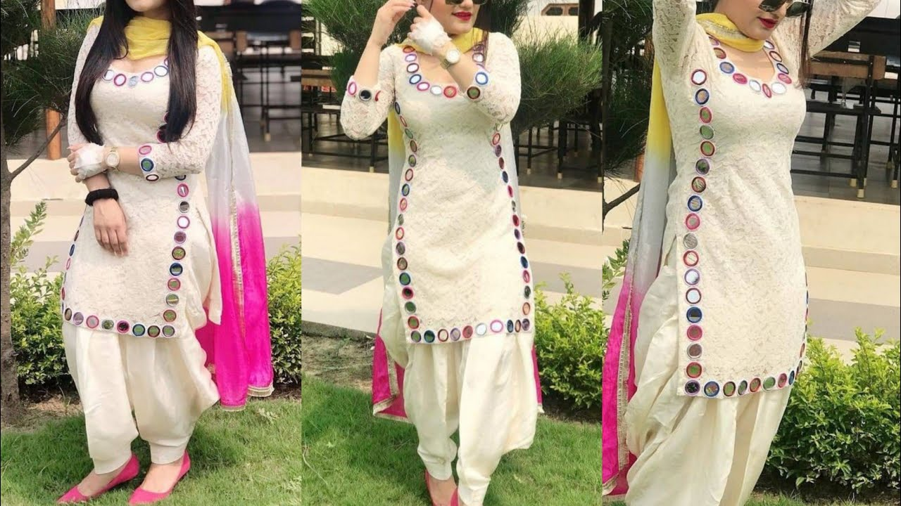 Tredny Simple Kameez Design With Laces
