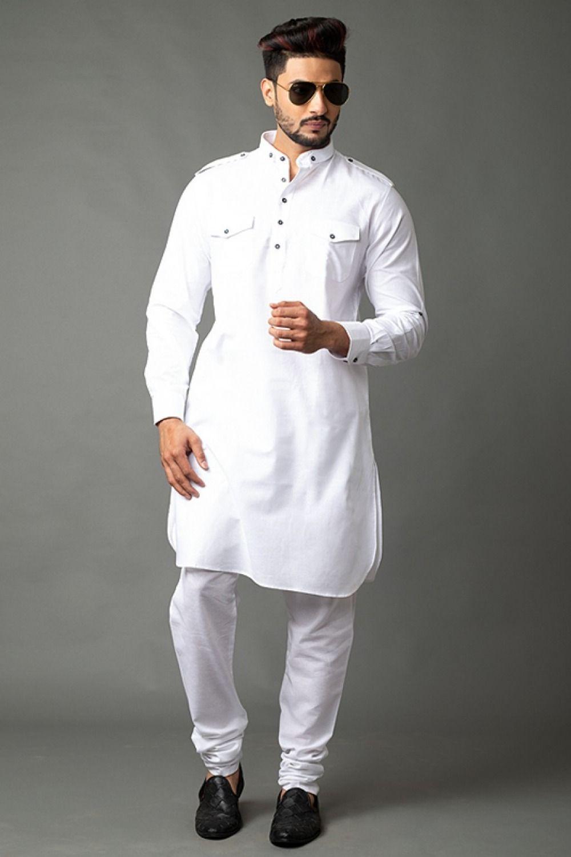 White cotton shalwar kameez design